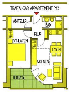 Grundriss Apartment 143